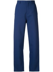 Y Project Straight Leg Trousers Blue