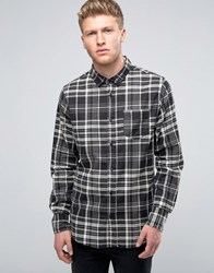 Brave Soul Checked Shirt Black