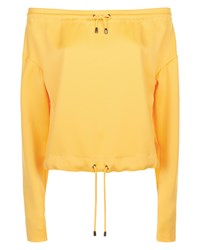 Jaeger Off Shoulder Drawstring Top Yellow