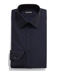 Tom Ford Classic Solid Dress Shirt Navy