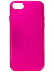 Kenzo Tiger Etched Iphone 7 Case Pink And Purple