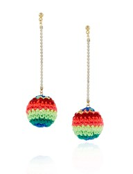 Venessa Arizaga Neon Rainbow Road Earrings Multi