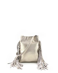 Monserat De Lucca Lola Shimmer Mini Suede Crossbody Gold