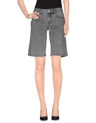 Galliano Denim Denim Bermudas Women Grey