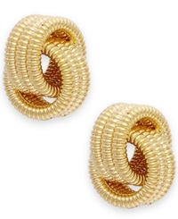 Signature Gold Love Knot Stud Earrings In 14K Gold