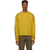 Nasaseasons Ssense Exclusive Yellow 'No Pictures' Long Sleeve T Shirt