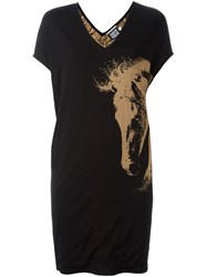 Fausto Puglisi Horse Intarsia Knitted Dress Nude And Neutrals
