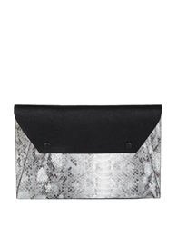 Bcbgmaxazria Sophie Embossed Colorblock Clutch Black White