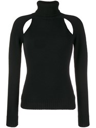 Tom Ford Cut Out Turtleneck Sweater Black