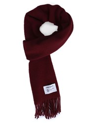 Norse Projects Burgundy Lambswool Scarf