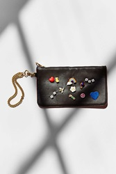 Venessa Arizaga Rainbow Sparkle Wristlet Black Multi