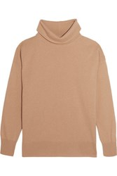 Iris And Ink Antonella Cashmere Turtleneck Sweater Camel