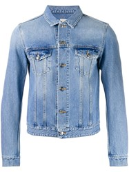 Harmony Paris Cropped Denim Jacket Blue