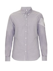 Moncler Gamme Bleu Banded Arm Cotton Shirt Grey Multi