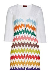 Missoni Mare Chevron Lace Up Tunic