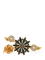 Versace Floral Garden Double Ring Black
