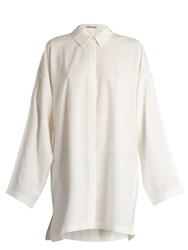 Acne Studios Sabra Long Sleeved Shirtdress White