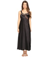 Oscar De La Renta 51 Silky Charmeuse And Lace Gown Black