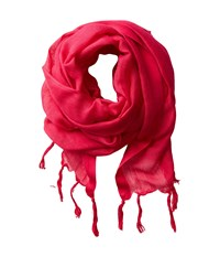Love Quotes Linen Tassel Scarf Grenadine Scarves Red