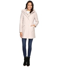 Ivanka Trump Wool Anorak Coat With Attached Poly Vest Frost Women's Coat White