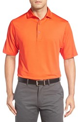 Bobby Jones Men's 'Xh20' Regular Fit Stretch Golf Polo Orange Tango