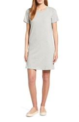 Bobeau Knit T Shirt Cotton Dress Heather Grey
