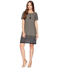 Dylan By True Grit Modern Gypsy Short Sleeve Dress With Lining And Pockets Black