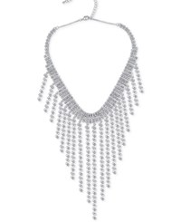 Say Yes To The Prom Silver Tone Rhinestone Fringe Choker Necklace A Macy's Exclusive Style