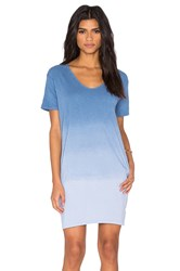 Sundry Ombre T Shirt Dress Blue