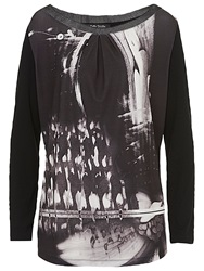 Betty Barclay Graphic Print Tunic Black Grey