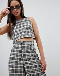 The Ragged Priest Cropped Top In Check Multi