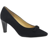 Gabor Forest Bow Block Heeled Court Shoes Navy