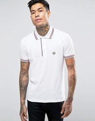 Love Moschino Polo With Badge Logo White