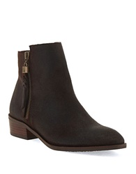 Elliott Lucca Rosaria Leather Ankle Boots Dark Brown