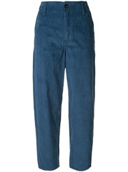 Nobody Denim Esoteric Straight Corduroy Trousers Blue
