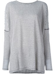 Alice Olivia Alice Olivia Long Sleeve Striped T Shirt Black