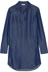 Splendid Chambray Shirt Dress Blue