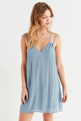 Urban Outfitters Uo Strappy Textured Mini Dress Blue