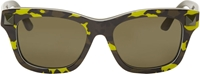 Valentino Yellow And Green Camouflage Sunglasses