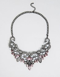 Pieces Fazzy Statement Necklace Silver