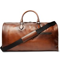 Berluti Jour Off Large Leather Holdall Brown