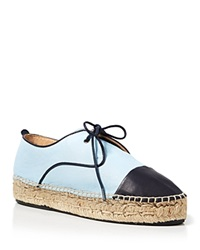 Charles David Lace Up Espadrille Flats Harper Pastel Blue
