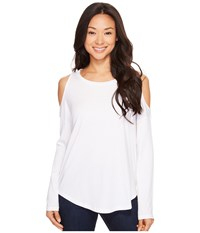 Lilla P Long Sleeve Cold Shoulder White Women's Clothing