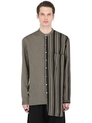 Isabel Benenato Asymmetrical Viscose And Silk Blend Shirt