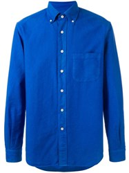 Massimo Piombo Mp Button Down Collar Classic Shirt Blue