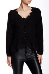 Gracia Lace Trim Peplum Jacket Black