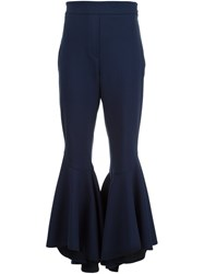 Ellery Flared Cropped Trousers Black