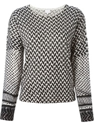 Lala Berlin Geometric Pattern Sweater Black