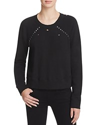 N Philanthropy Kika Distressed Studded Sweatshirt Black
