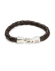 Uno De 50 Tarugo Braided Leather Bracelet Brown